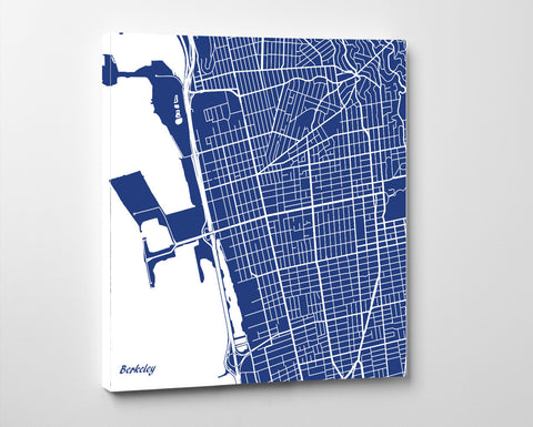 Berkeley, California City Street Map Print Custom Wall Map