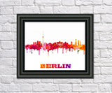 Berlin Print City Skyline Wall Art Poster Germany - OnTrendAndFab