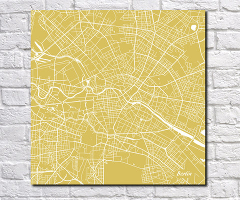 Berlin, Germany City Street Map Print Custom Wall Map