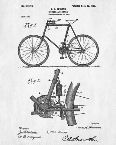 Vintage bicycle blueprint cycling patent print cyclist poster vintage bicycle blueprint cycling patent print cyclist poster malvernweather Image collections
