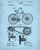 Bicycle Patent Print Cycling Blueprint Poster - OnTrendAndFab