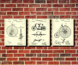 Bicycle Blueprints Set 3 Cycling Patent Prints Posters