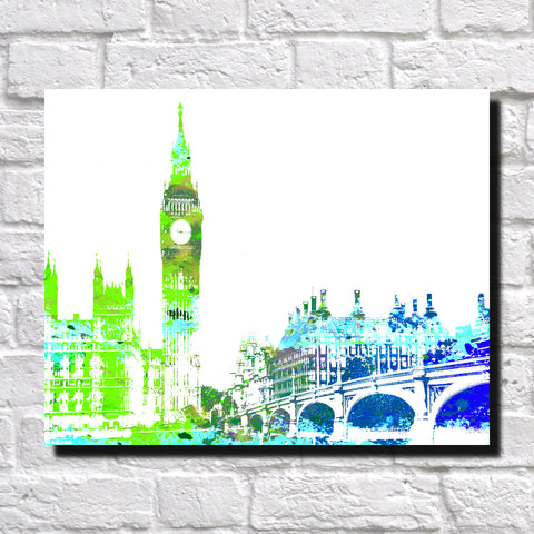 Big Ben London City Skyline Print Landscape Poster Feature Wall Art