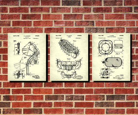 Sailing Patent Prints Set 3 Nautical Safety Posters