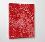 Bologna, Italy - Street Map Print Feature Wall Art Poster