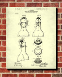 Bottle Stopper Patent Print Cafe Art Blueprint Bar Poster - OnTrendAndFab