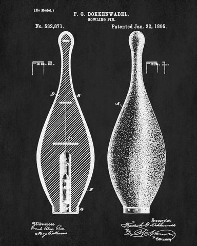 Bowling pin blueprint sports patent print art poster ontrendandfab bowling pin blueprint sports patent print art poster malvernweather Choice Image