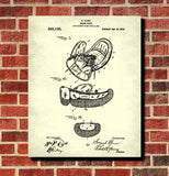 Boxing Glove Poster Sports Gym Wall Art Patent Print