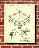 Boxing Ring Patent Print Sports Wall Art Poster