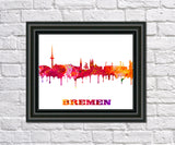 Bremen Print City Skyline Wall Art Poster Germany - OnTrendAndFab