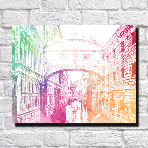 Bridge of Sighs City Skyline Print Landscape Poster Feature Wall Art