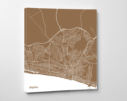 Brighton City Street Map Custom Wall Map Poster