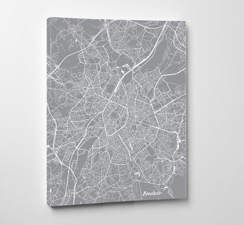 Brussels City Street Map Print Custom Map Poster - OnTrendAndFab