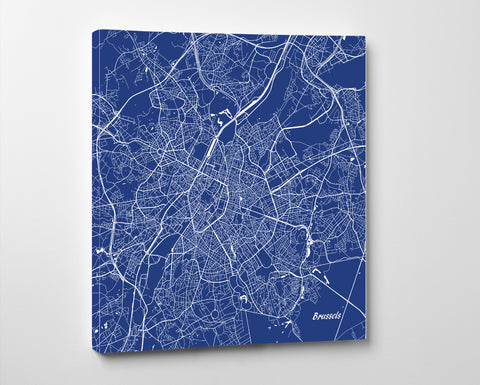 Brussels City Street Map Custom Wall Map Poster - OnTrendAndFab