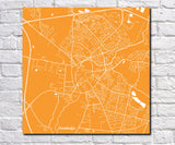 Cambridge City Street Map Print Custom Wall Map - OnTrendAndFab