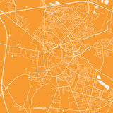 Cambridge City Street Map Print Custom Wall Map