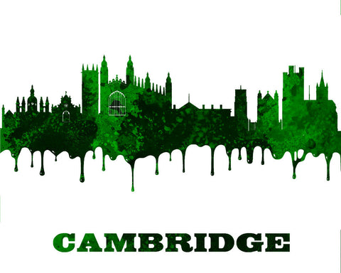 Cambridge City Skyline Print Wall Art Poster England - OnTrendAndFab