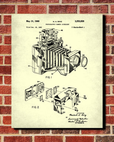 Camera Blueprint Photography Patent Print Photographer Poster - OnTrendAndFab