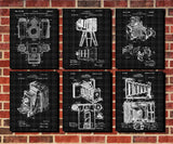 Camera Patent Prints Set 6 Photography Studio Posters