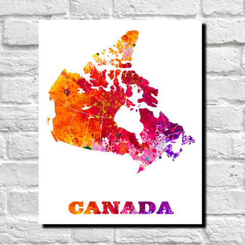 Canada Map Print Outline Wall Map of Canada