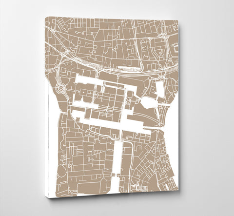 Canary Wharf London Street Map Print Feature Wall Art Poster