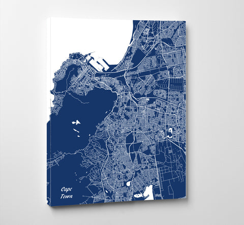 Cape Town City Street Map Print Feature Wall Art Poster