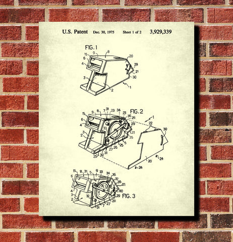 Card Dealer Patent Print Casino Gaming Wall Art