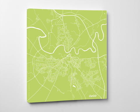 Carlisle City Street Map Print Modern Art Poster Home Decor - OnTrendAndFab