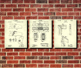 Carpenters Tools Patent Prints Set 3 Carpentry Wall Art Posters