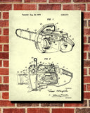 Chainsaw Blueprint Lumberjack Patent Print Forestry Poster - OnTrendAndFab