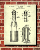 Champagne Bottle Patent Print Cafe Poster Bar Art - OnTrendAndFab
