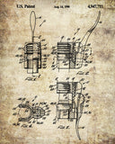 Champagne Bottle Opener Patent Poster Cafe Print Bar Art - OnTrendAndFab
