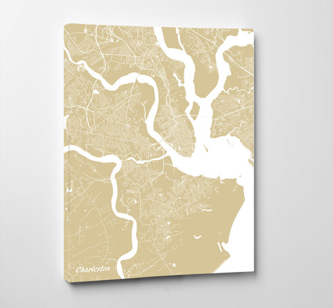 Charleston SC City Street Map Print Custom Wall Map