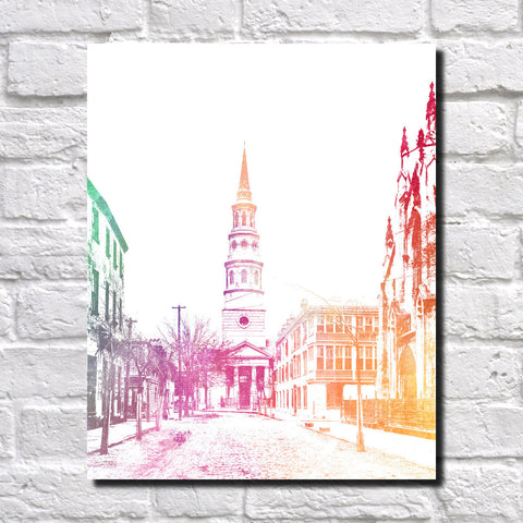 Charleston South Carolina Print City Landscape Poster Feature Wall Art