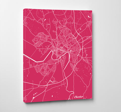 Chester City Street Map Print Modern Art Poster Home Decor