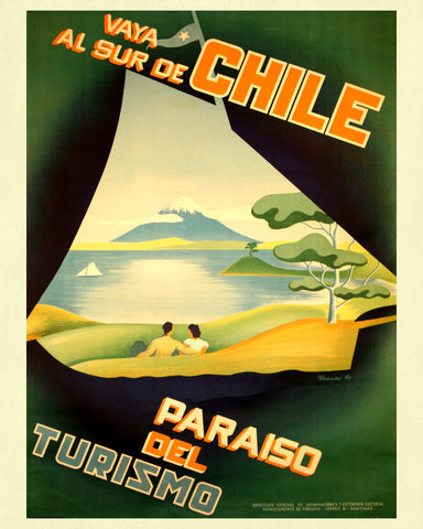 Chile Print Vintage Travel Poster Art - OnTrendAndFab