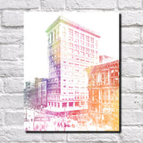 Cincinnati Traction Print City Landscape Poster Feature Wall Art