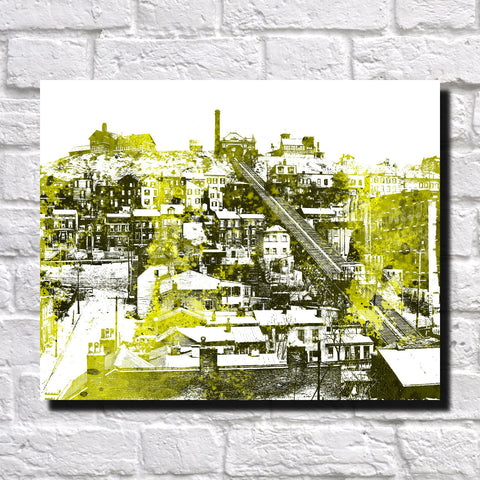 Cincinnati Mount Adams Print City Landscape Poster Feature Wall Art