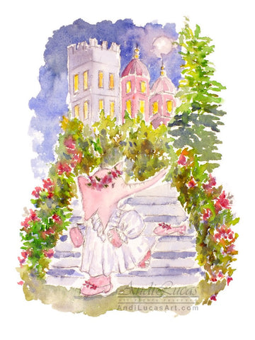Cinderella Elephant Children's Nursery Wall Art Print
