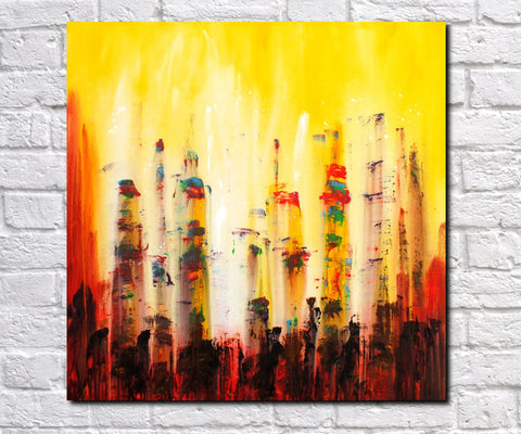 Abstract Art Print Feature Wall Art James Lucas: City Heat