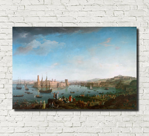Claude Joseph Vernet, Fine Art Print : Port of Marseille