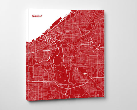 Cleveland City Street Map Custom Wall Map Poster - OnTrendAndFab