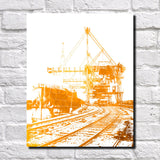 Cleveland Quayside Print City Landscape Poster Feature Wall Art