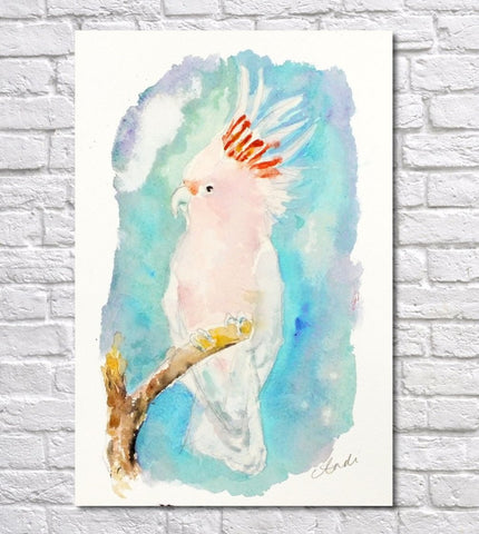 Cockatoo Watercolour Print, Andi Lucas Wildlife Art