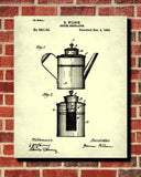 Coffee Percolator Patent Print Cafe Blueprint Kitchen Poster - OnTrendAndFab