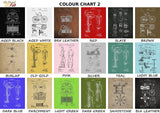 patent prints colour choices set 2