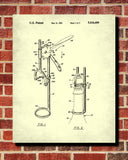 Corkscrew Blueprint Bar Patent Print Wine Cafe Poster - OnTrendAndFab