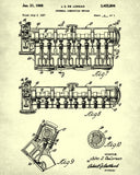 DeLorean Blueprint Car Engine Automotive Patent Print - OnTrendAndFab
