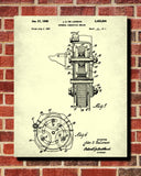 DeLorean Blueprint Automotive Car Engine Patent Print