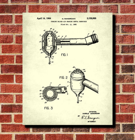 Dental drill blueprint medical patent print dentist poster dental drill blueprint medical patent print dentist poster malvernweather Images